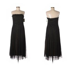 BCBGMAXAZRIA long tulle formal dress
